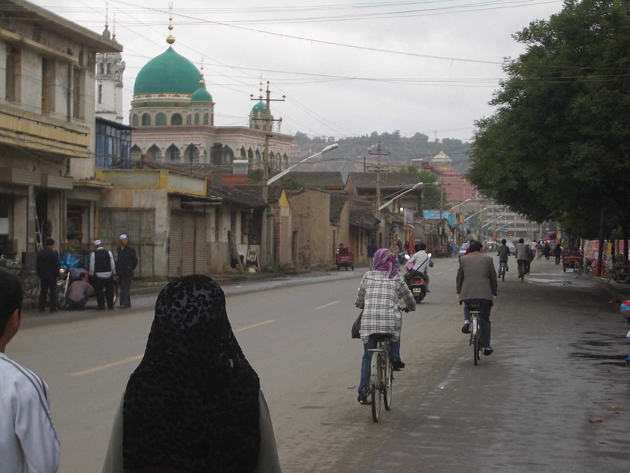 File 5709 Linxia City Xin Xi Lu Laohua And Xinhua Mosques Jpg