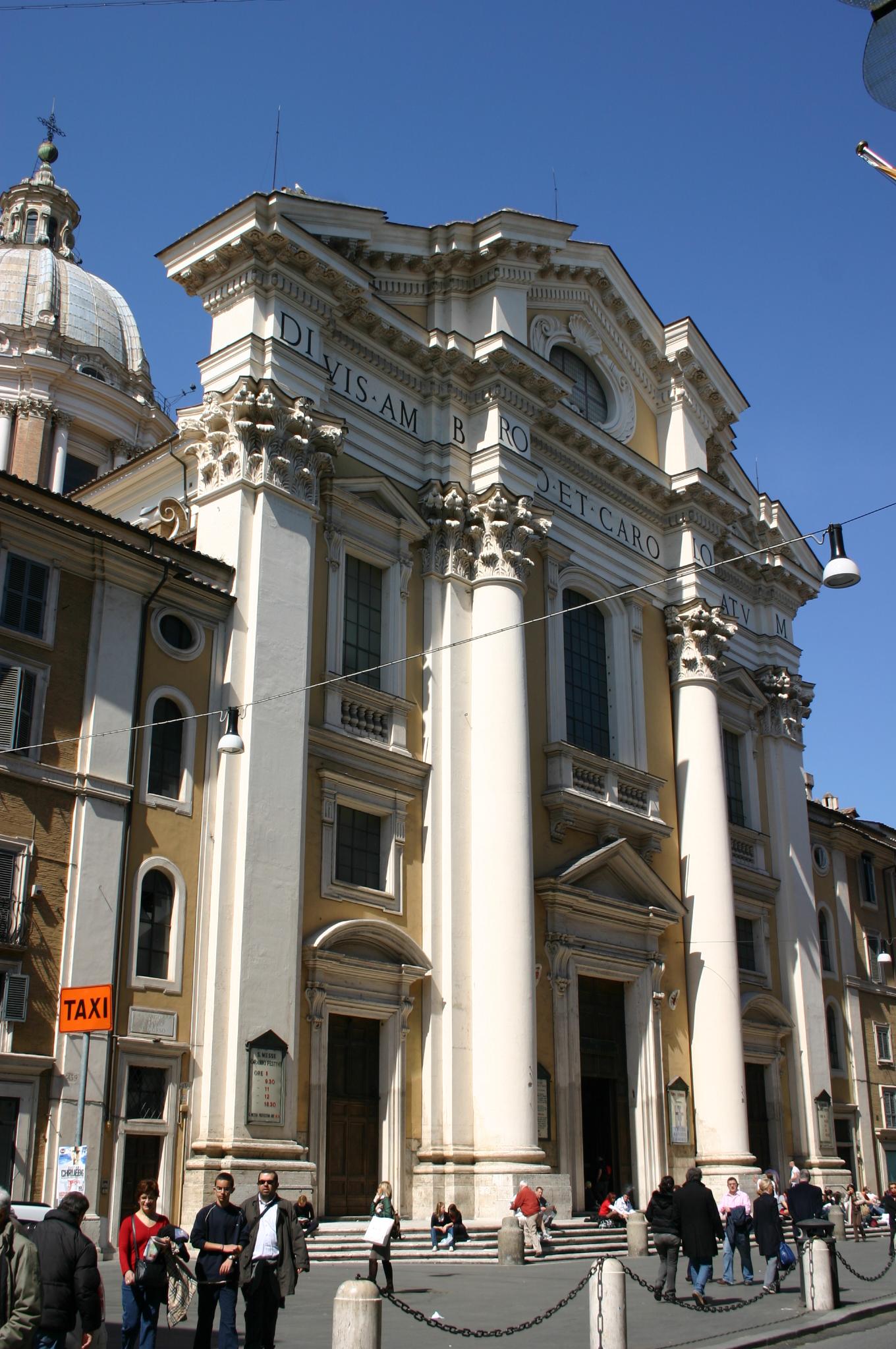 File 8330 roma san carlo al corso facciata foto for Corso grafica roma