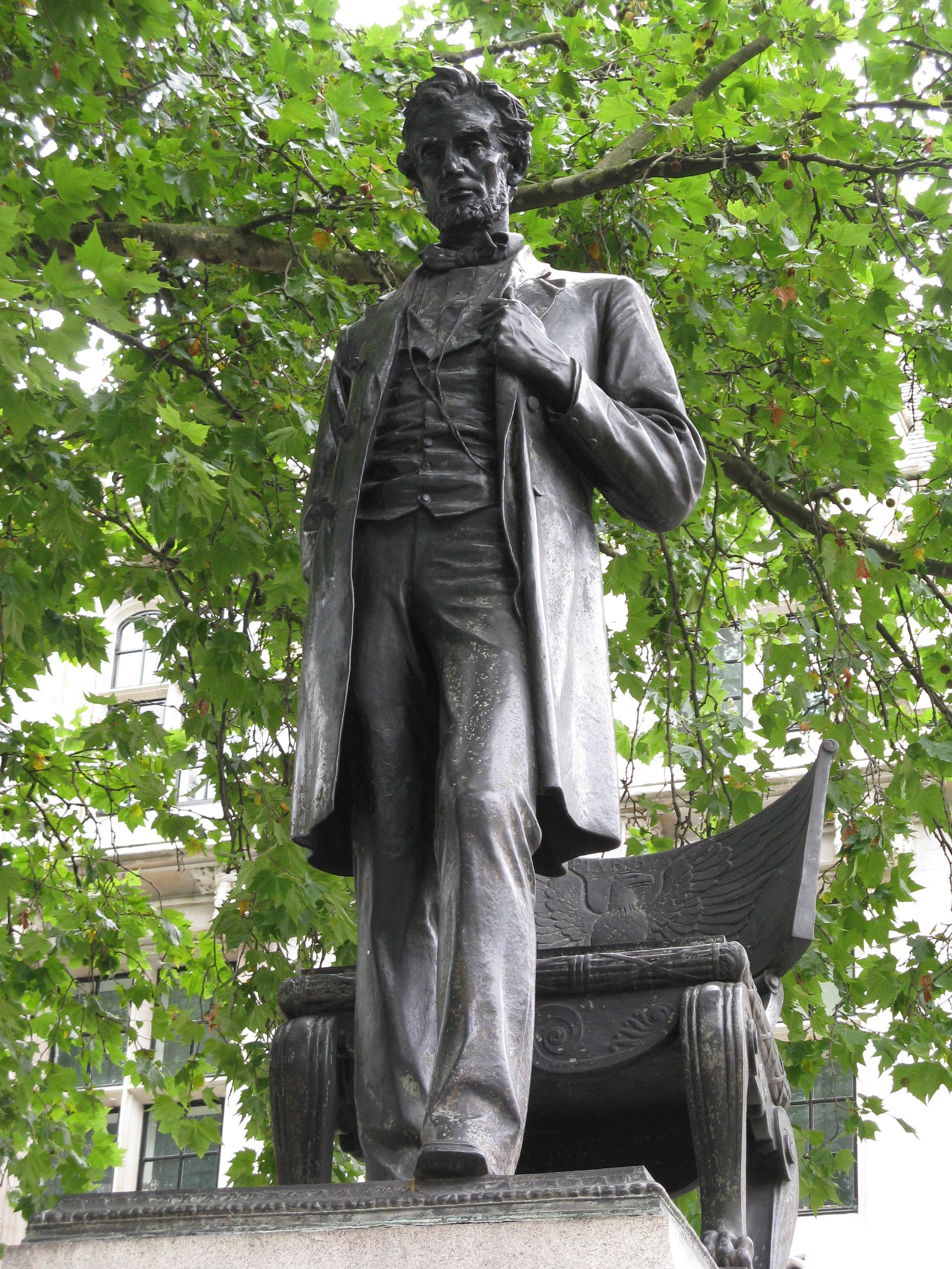 File Abraham Lincoln Memorial London Jpg Wikimedia Commons