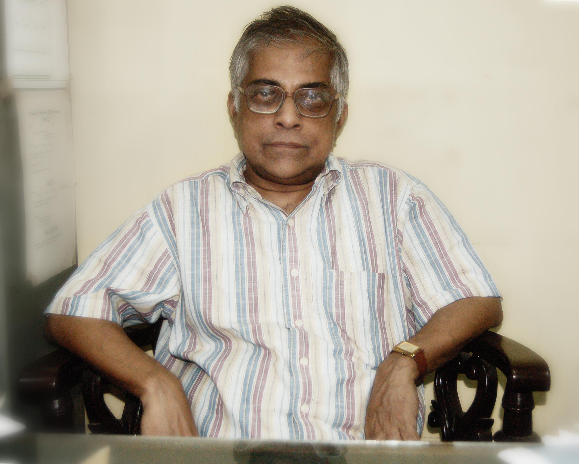 Amitava Raychaudhuri at the [[University of Calcutta]]