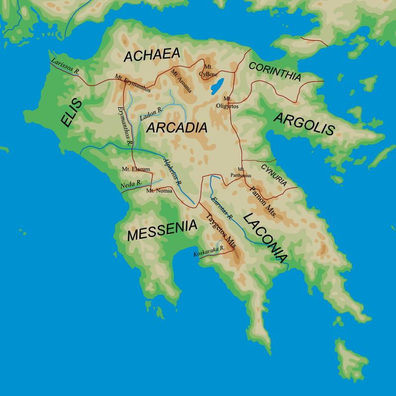 ancient arcadia map