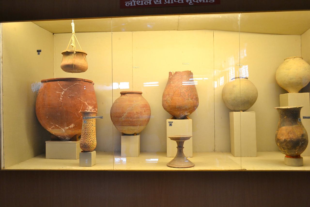 Pottery from Lothal Archaeological site