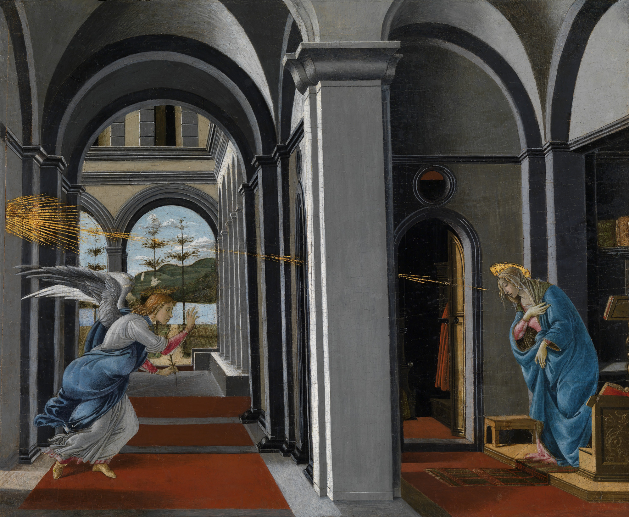 Annunciation by Boticelli