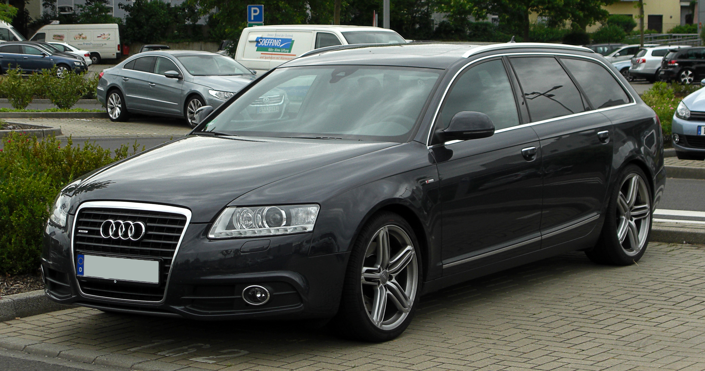 file audi a6 avant s line c6 facelift frontansicht. Black Bedroom Furniture Sets. Home Design Ideas