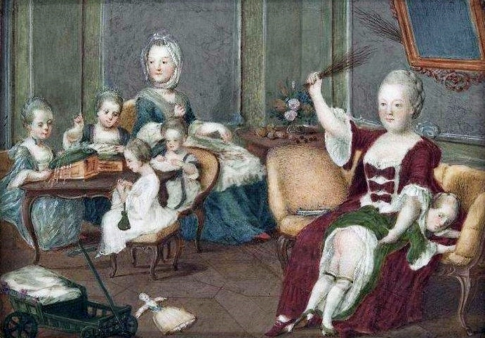 Empress Maria Theresa with her children.
