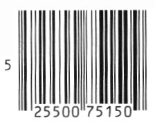 Line art drawing of a barcode.