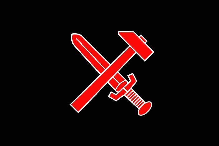Bandera de Frente Negro, llamado oficialmente Liga Combativa de Nacionalsocialistas Revolucionarios, creada en 1930 como escisión del Partido Nazi y que se opuso al régimen de Adolf Hitler en Alemania.