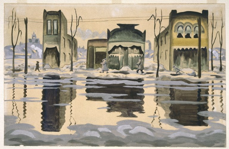 File:Brooklyn Museum - February Thaw - Charles Burchfield.jpg