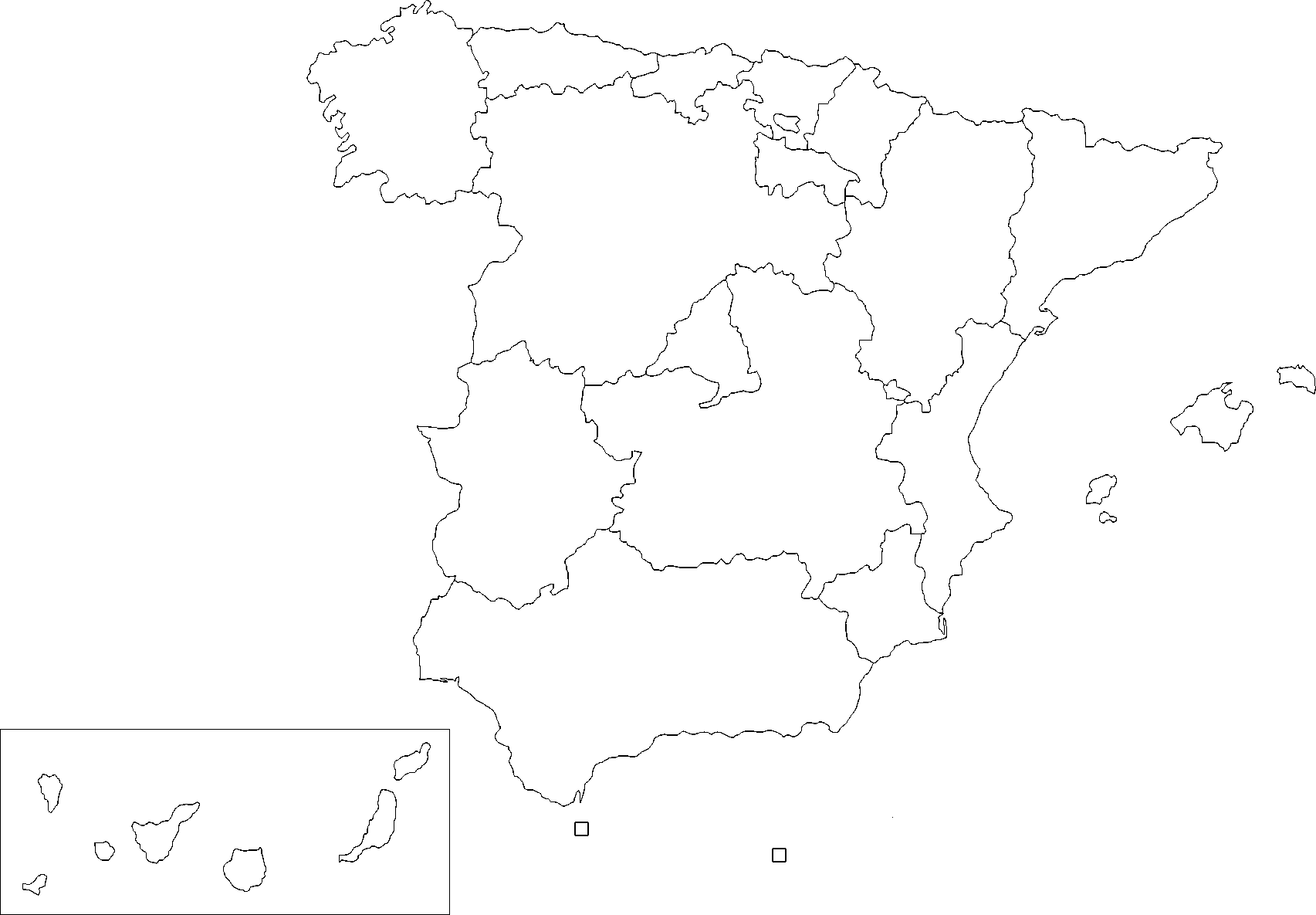 Picture of: Imsa Kolese Blank Map Of Spain