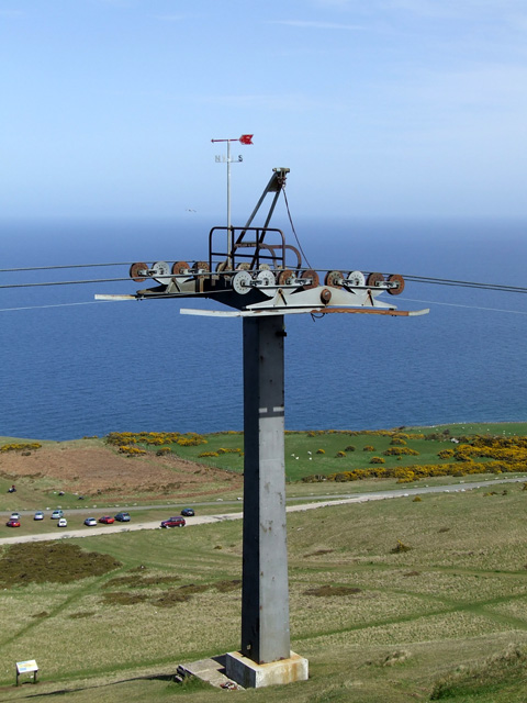 File:Cable car pylon on Great Orme Summit - geograph org uk