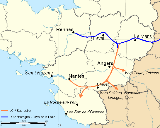 Carte Bretagne Pays De La Loire.File Carte Lgv Sud Loire Png Wikimedia Commons