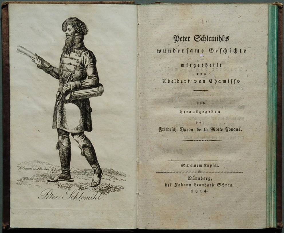 Frontispiece of Adelbert von Chamisso: Peter Schlemihl's wundersame Geschichte