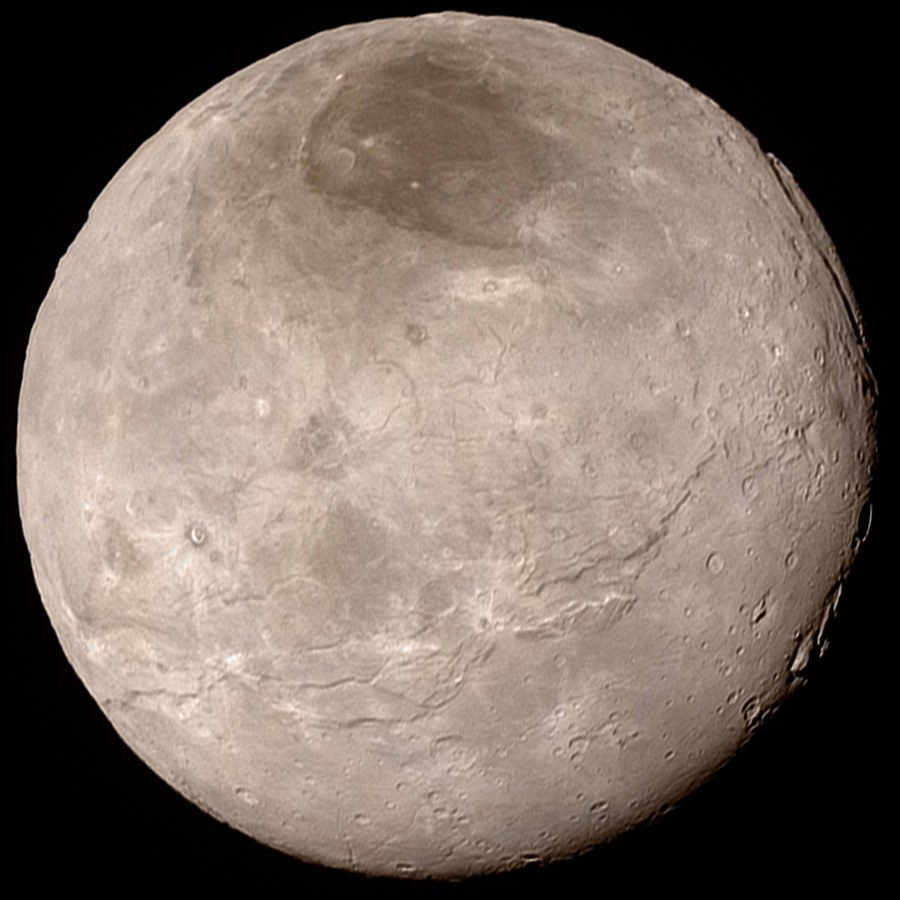 Photo of Charon by New Horizons