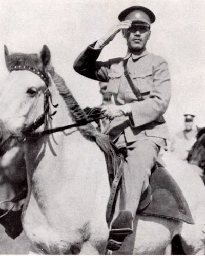 Generalissimo Chiang Kai-shek, Commander-in-Chief of the National Revolutionary Army, emerged from the Northern Expedition as the leader of China.