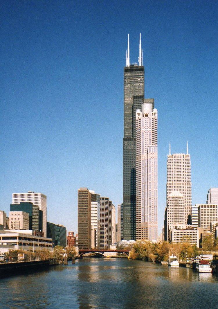 Sears Tower Chicago Illinois Public Domain Clip Art
