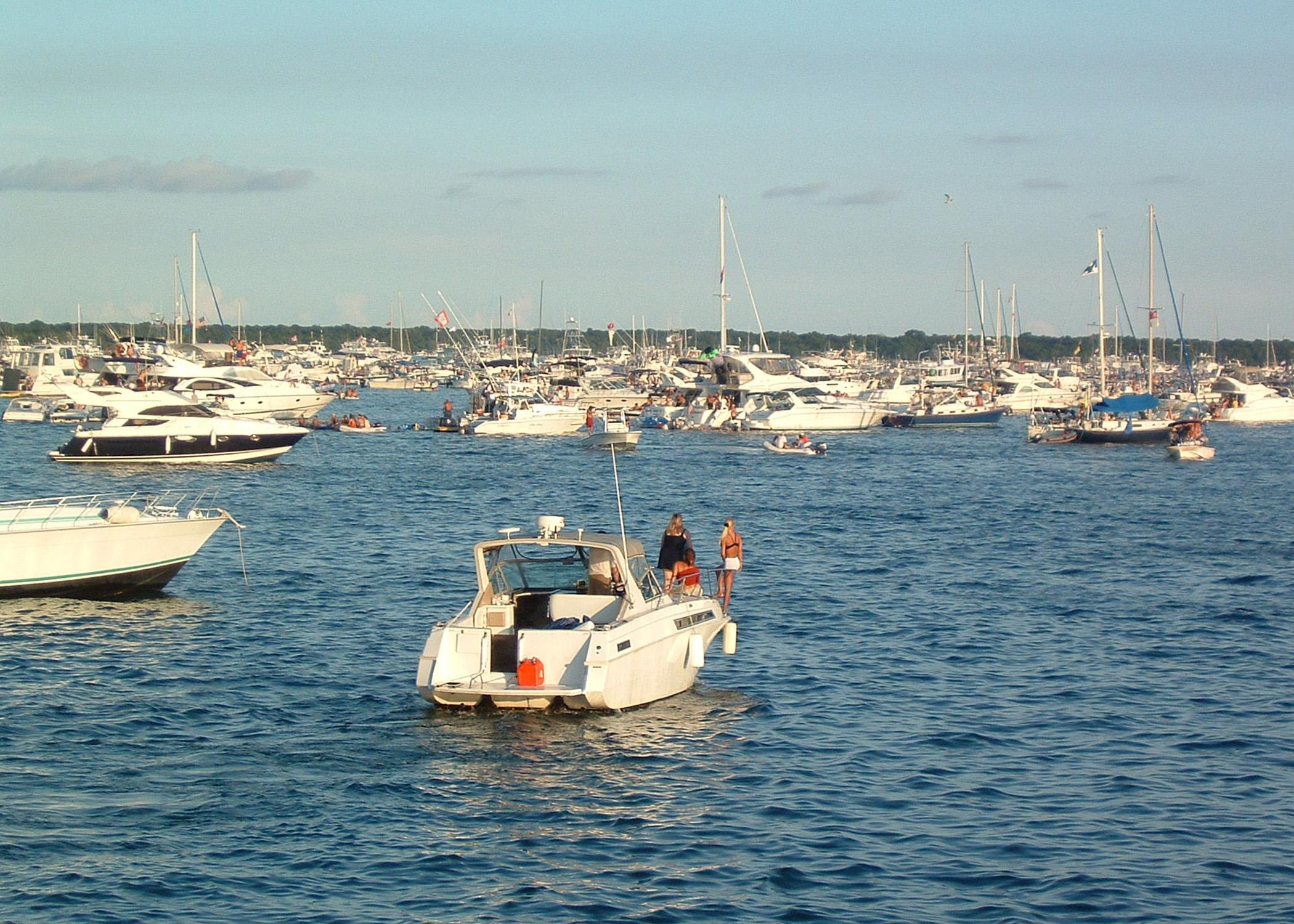 boats keeping ecosystem safe