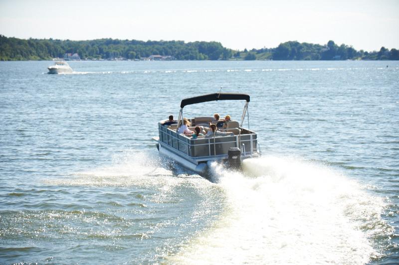 Image result for pontoon boat