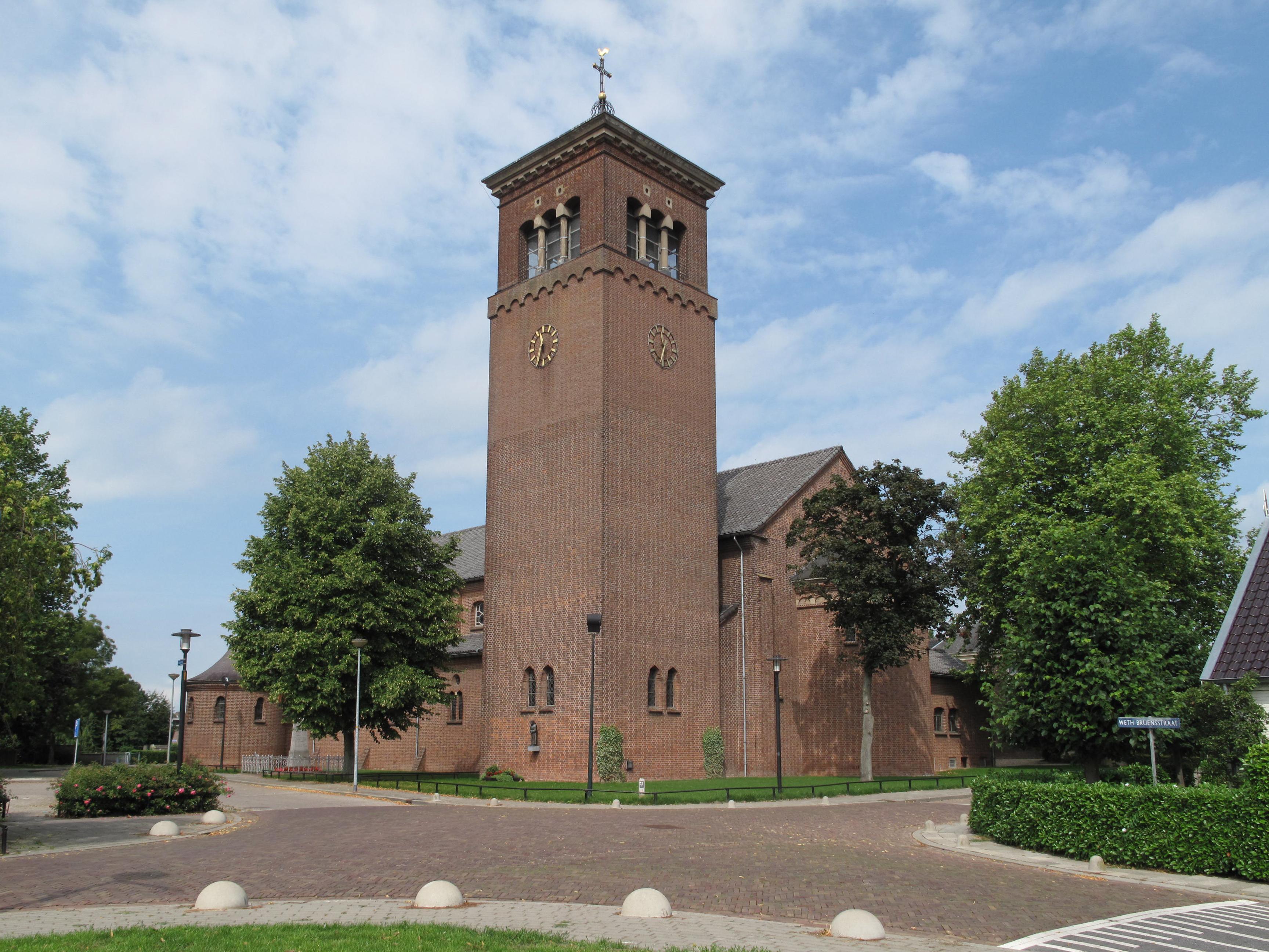 toren met klok