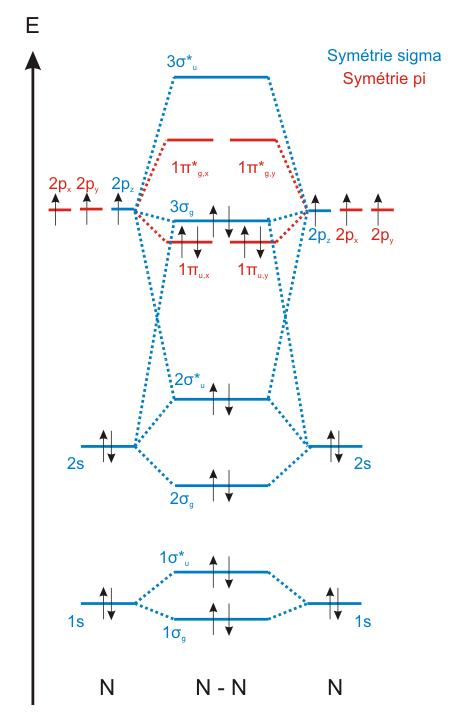 how to calculate bond order of n2