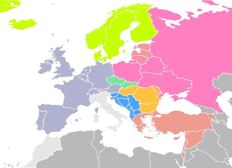 Pays d une même région nordiques baltiques slaves balkaniques etc