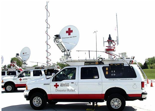 Unidad móvil de comunicaciones de emergencia de la Cruz Roja