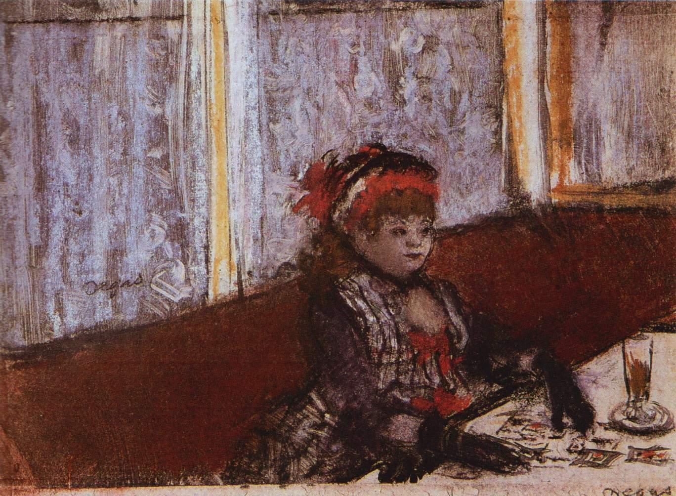 File Edgar Degas Femme Dans Un Cafe Jpg Wikimedia Commons