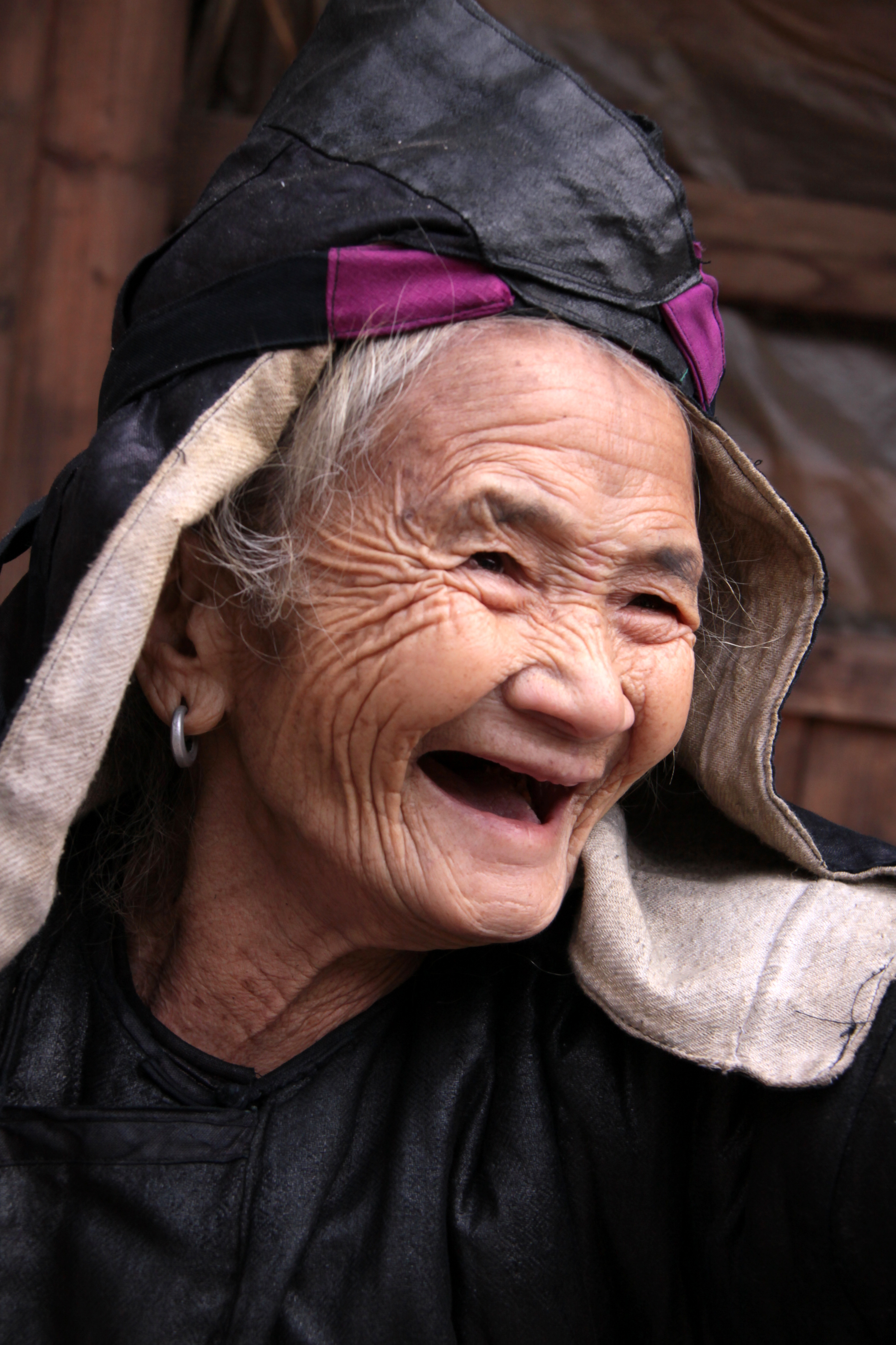 china, guizhou, old woman dong by Venton PICQ
