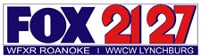 "WFXR/WWCW's final logo under the ""Fox 21/27"" brand, used from 2007 to September 30, 2015."