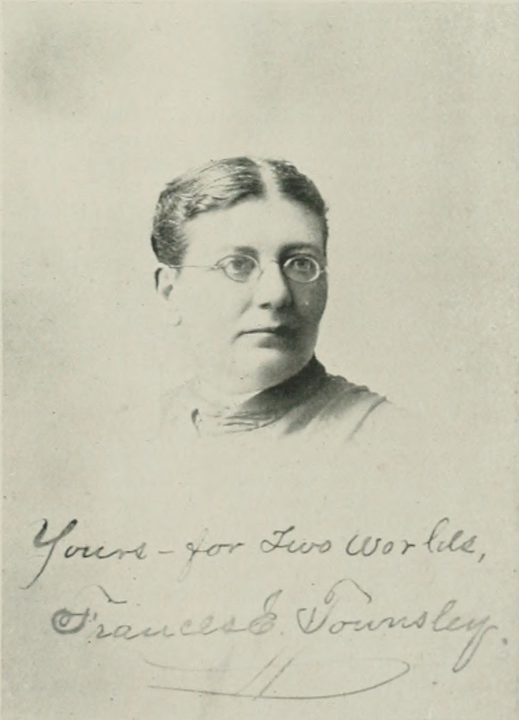FRANCES ELEANOR TOWNSLEY. A woman of the century (page 731 crop).jpg