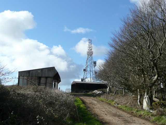 File:Farm buildings and communications tower - geograph.org.uk - 715439.jpg