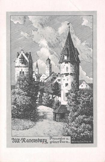 Felle Ravensburg Frauentor Grüner Turm