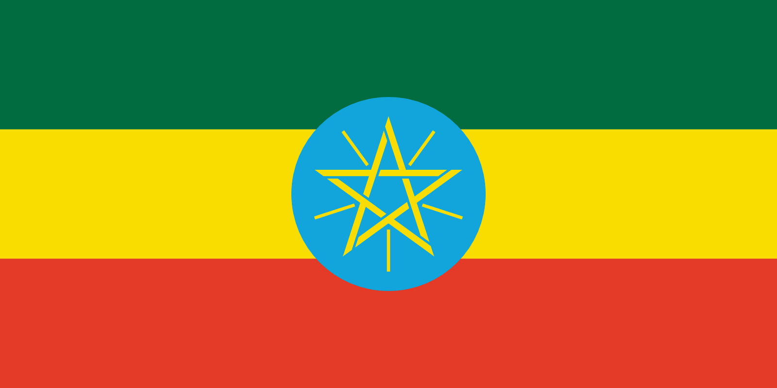 Flag of Ethiopia (1996-2009)