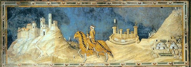 File:GuidoriccioDaFogliano.jpgGuidoriccio Da Fogliano fresco (probably by Simone Martini) in Siena's Palazzo Pubblico museum