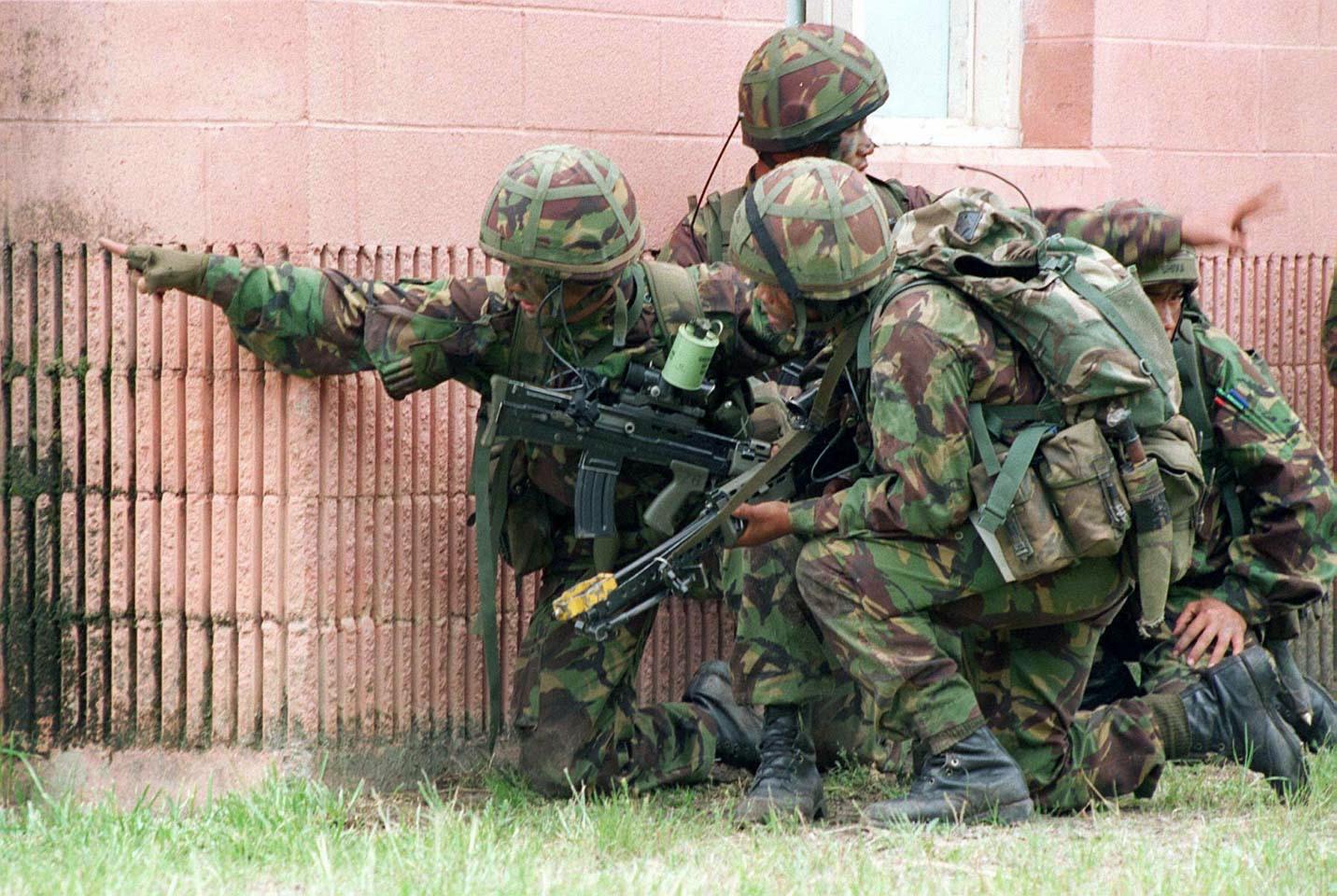 Gurkha with Camouflaged Kukri