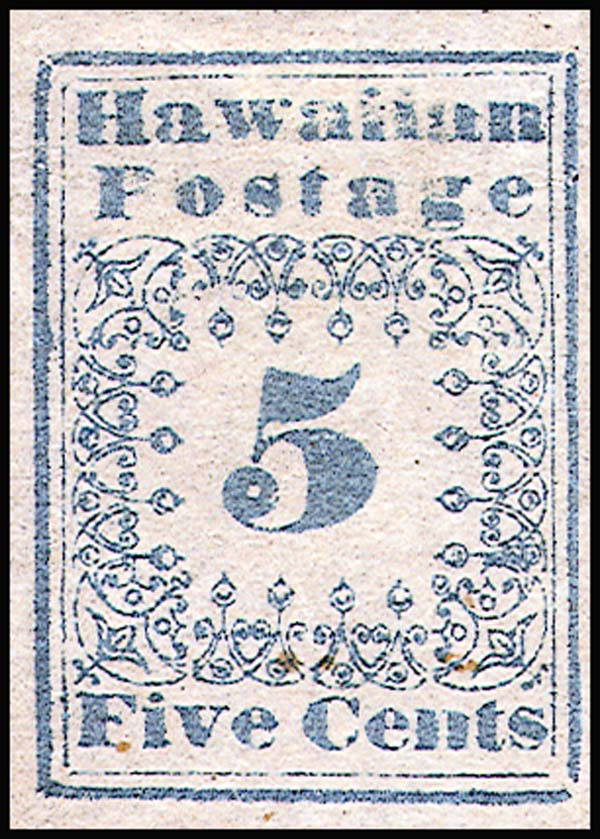 FileHawaii Stamp 5c 1851