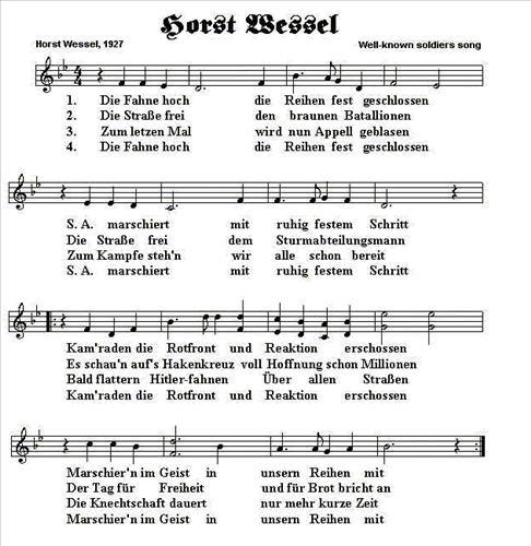 """English: Horst Wessel Song, aka """"Horst We..."""