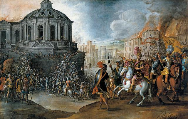 Image result for sack of rome (1527) capture of clement vii