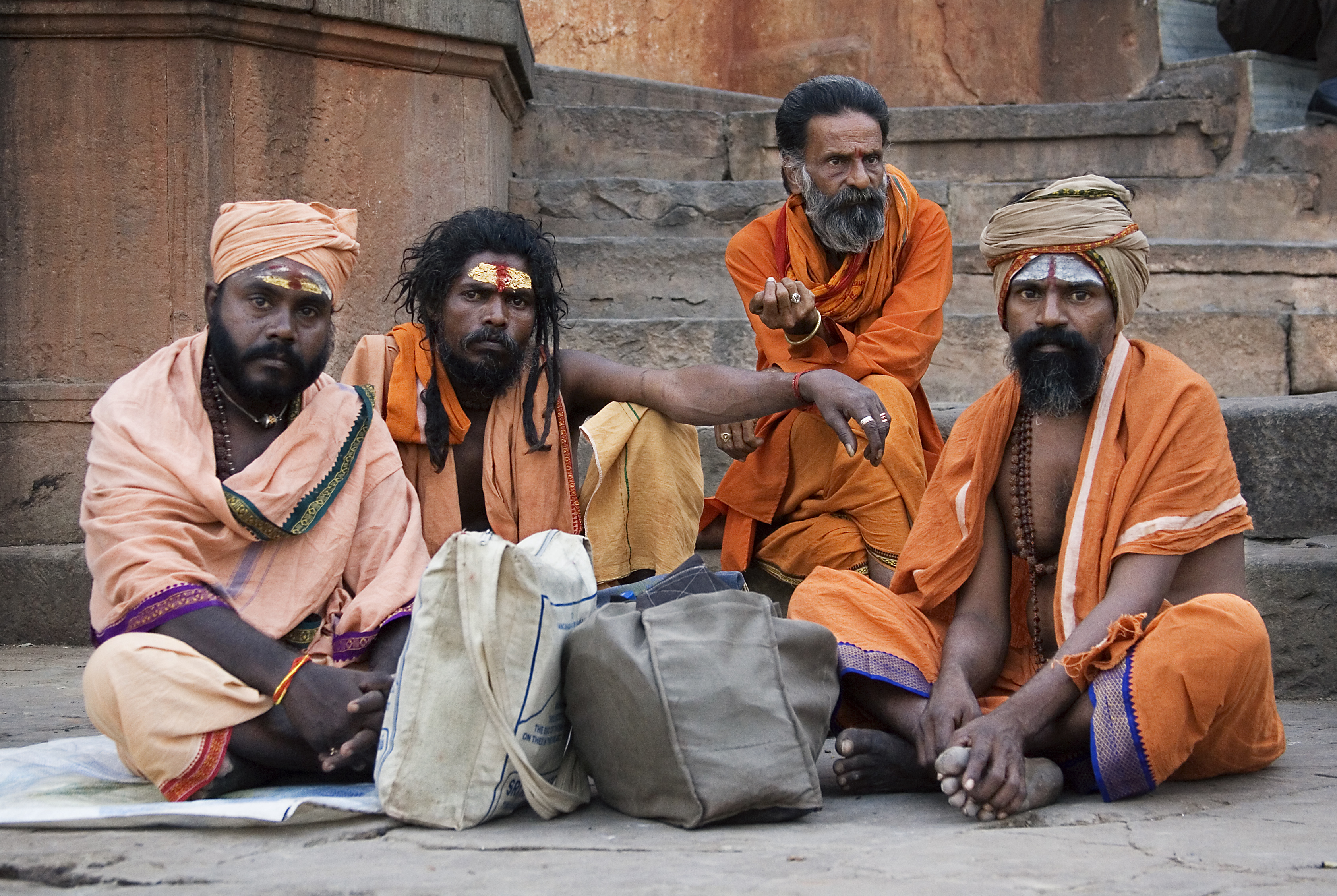 Sadhus Of India http://en.wikipedia.org/wiki/File:India_-_Varanasi_Sadhus_-_1276.jpg