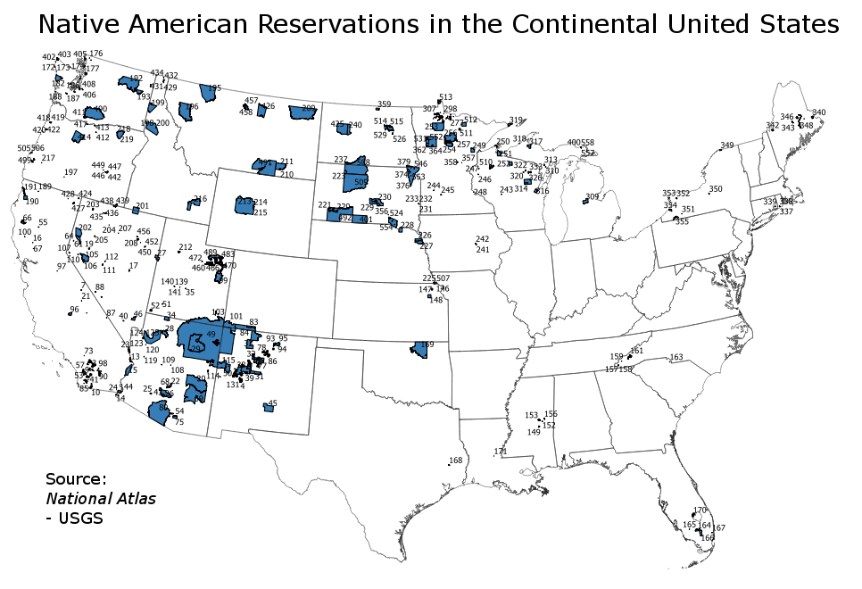 Indian Reservations Us Map Indian reservation   Wikipedia