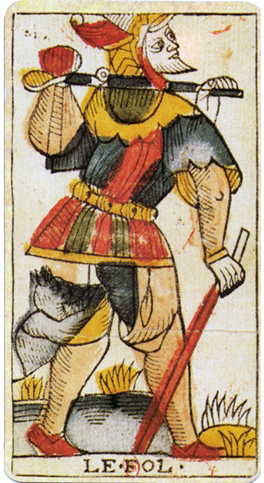 http://upload.wikimedia.org/wikipedia/commons/2/2b/Jean_Dodal_Tarot_trump_Fool.jpg