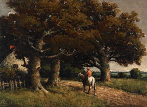an examination of homer watsons painting horse and rider in a landscape His paintings will be his response to being in homer watson land homer  his  painting style was reminiscent of british landscape artist john.
