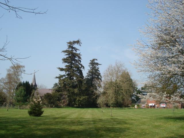 Lawn near Lower Brienton Church - geograph.org.uk - 454329