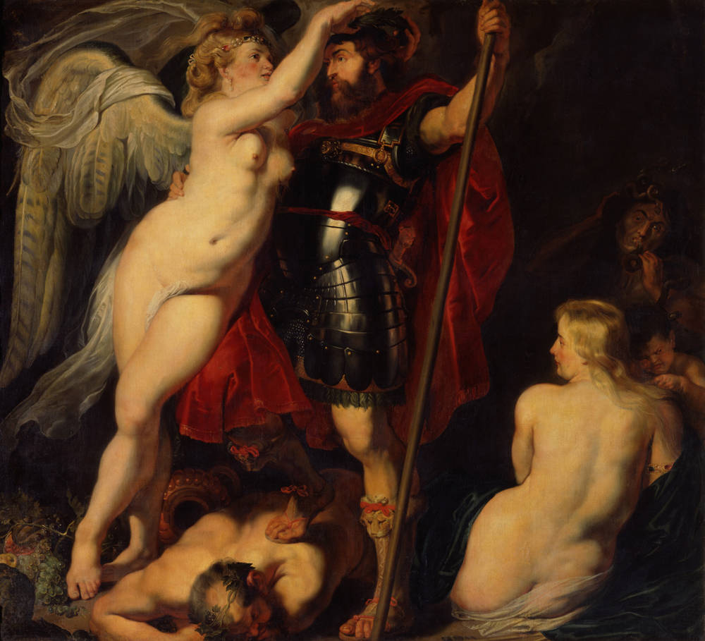 The Champion of Virtue (Mars), Crowned by the Goddess of Victory by Peter Paul Rubens