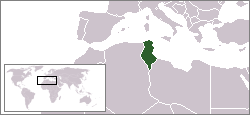 Location of Tunisia