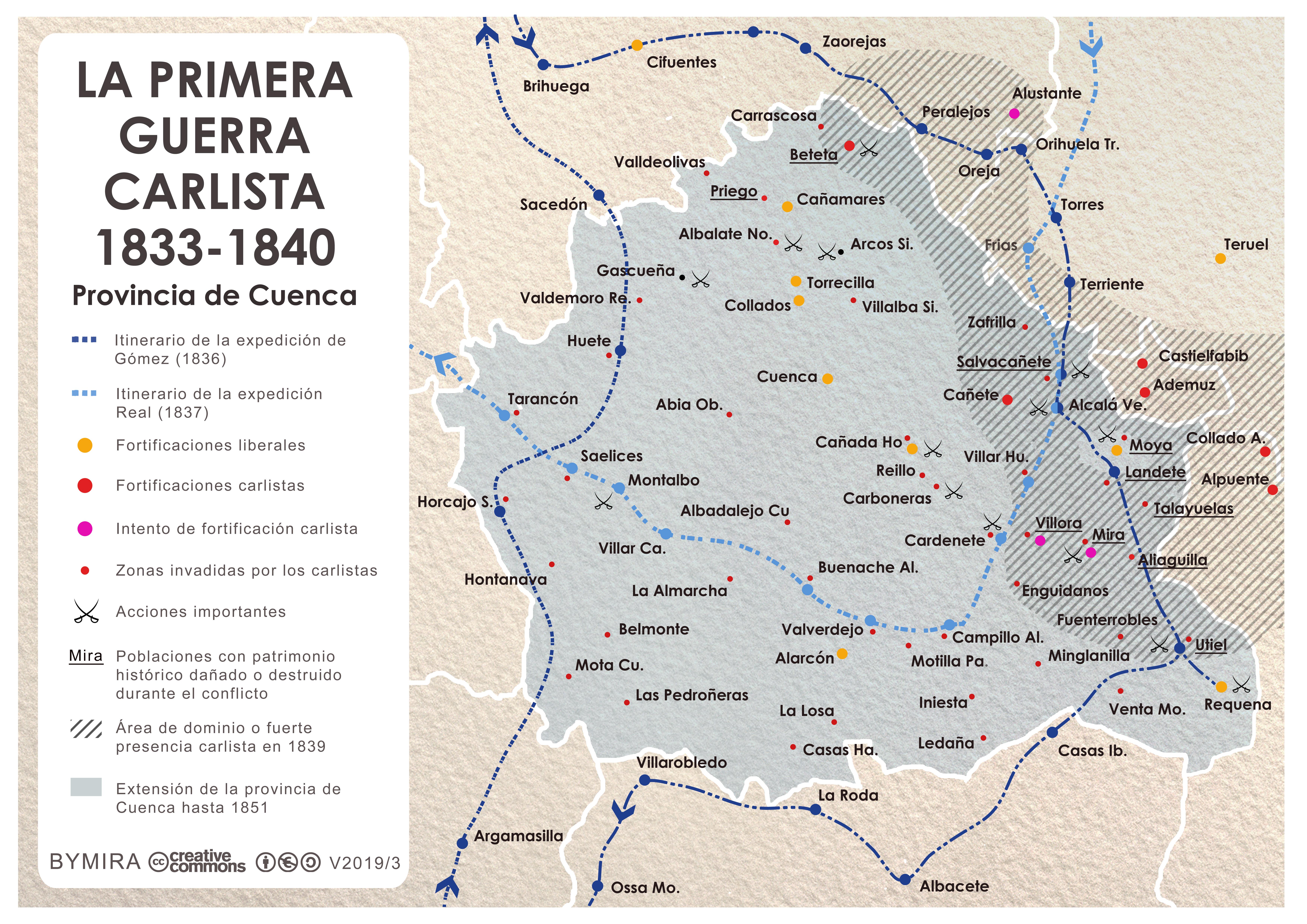 Mapa Provincia De Cuenca.Archivo Mapa Primera Guerra Carlista Provincia De Cuenca Jpg Wikipedia La Enciclopedia Libre