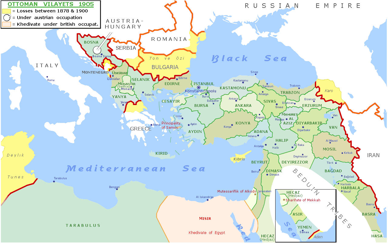 Map Of The Ottoman Empire File:Map of Ottoman Empire 1900.png   Wikimedia Commons