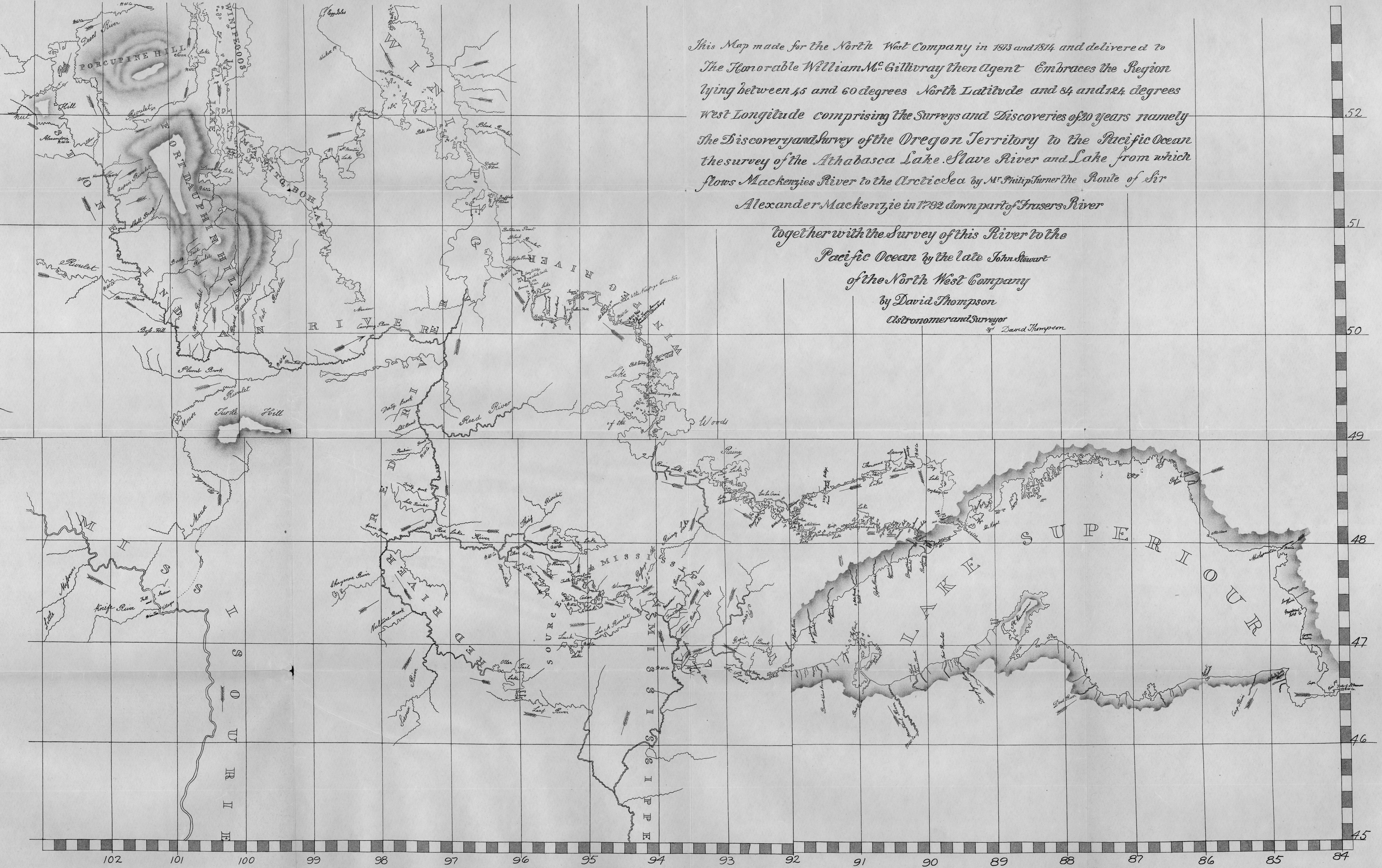 FileMap Of Western British North America David Thompson - Us map 1814