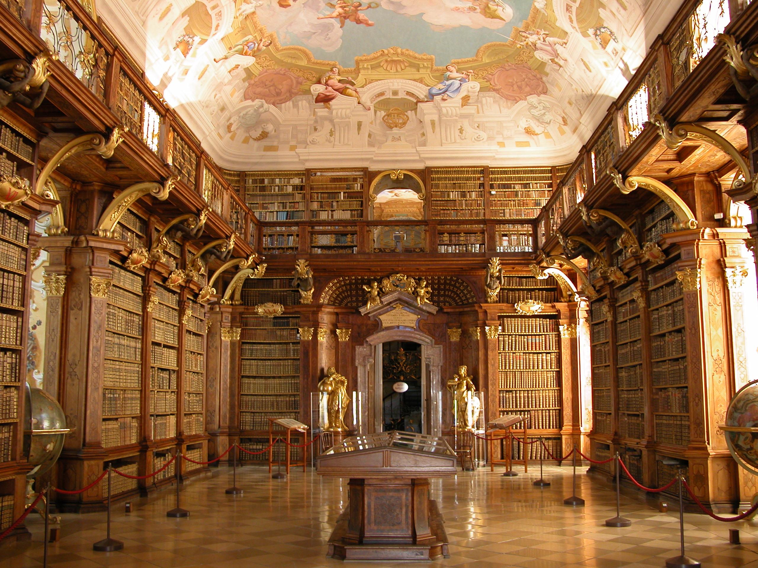 Biblioteca de la Abadía de Melk, Austria