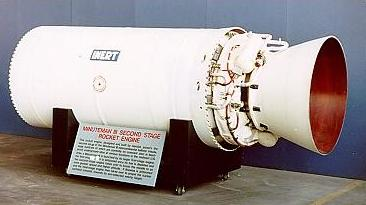 The second stage of a MinutemanIII rocket