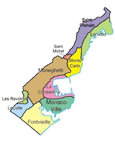 Pembagian wilayah administratif Monako